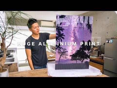 I ORDERED HUGE ALUMINIUM PRINT // 巨大アルミプリント注文してみました!