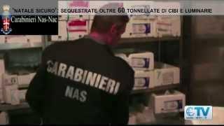 'Natale sicuro': sequestrate oltre 60 tonnellate di cibi e luminarie