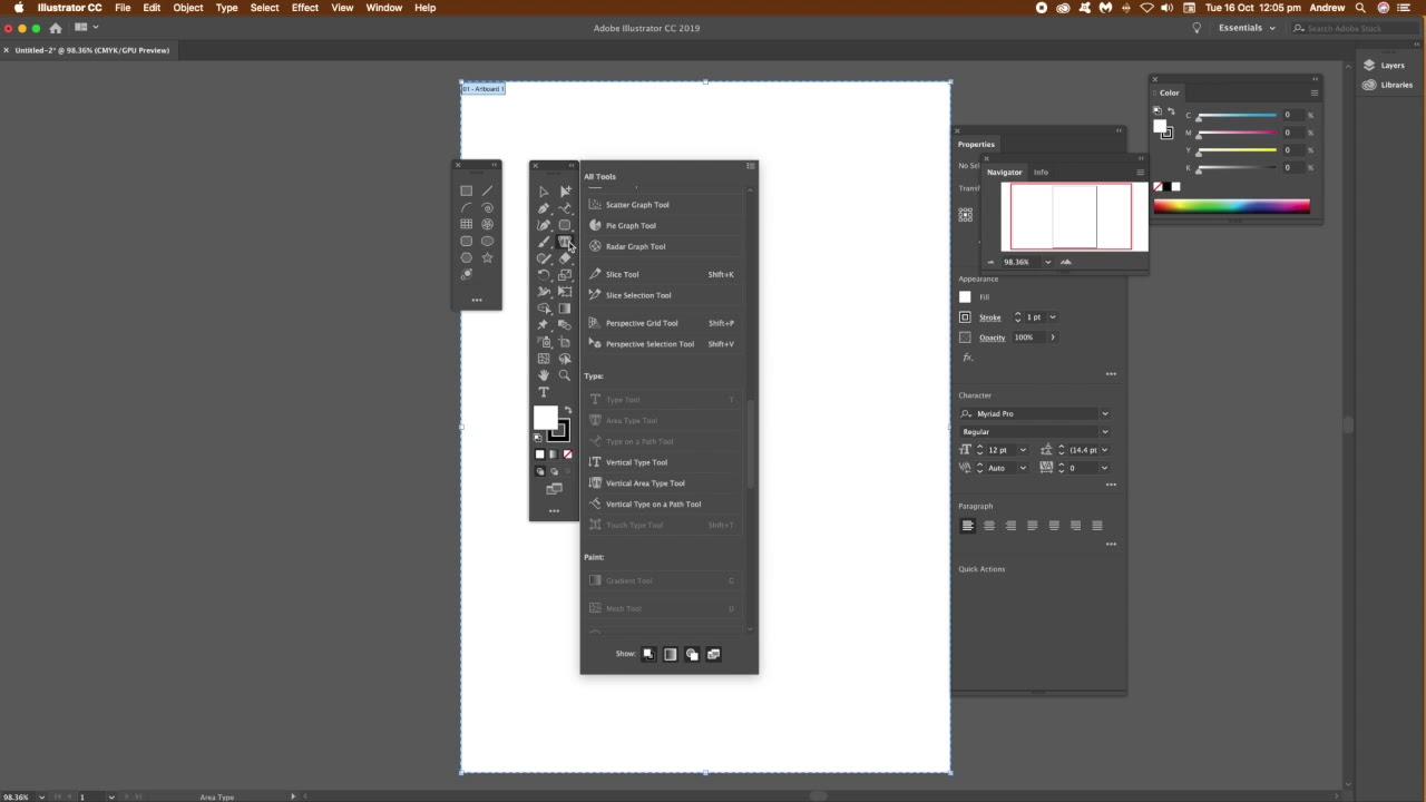 Illustrator CC 2019 (23) : Customizable toolbars tutorial