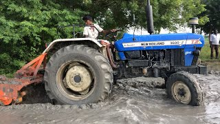 Small Boy vs New Holland 3600 Tractor Stunt with Rotavator