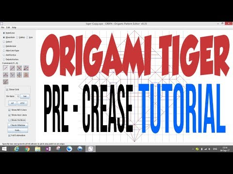 Origami Tiger Tutorial Part 1 - How to fold