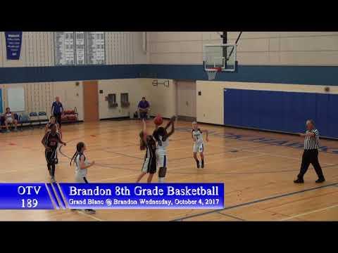 10 4 2017 Brandon 8th Grade Basketball vs Grand Blanc