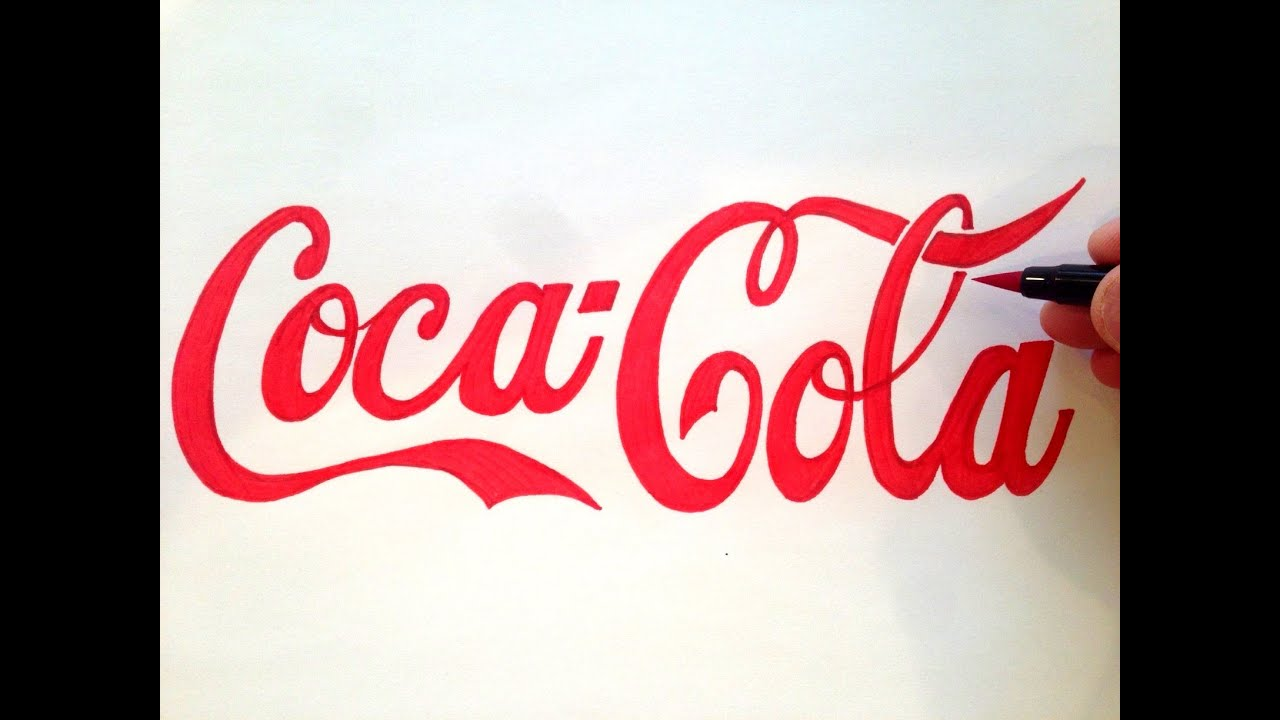 how to draw the coca cola logo freehand youtube