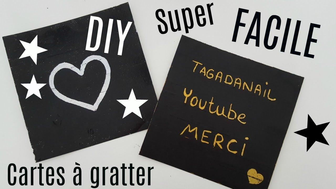 Super DIY FABRIQUER SES FEUILLES / CARTES À GRATTER AVEC PRESQUE RIEN  PA54
