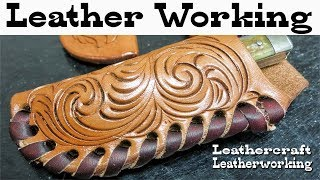 Leather working How to lace leather knife sheaths by hand