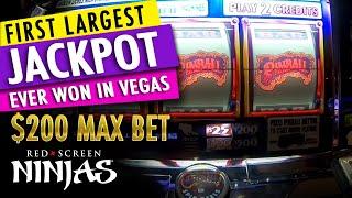 $200 DOLLAR MAX BET PINBALL SLOT MACHINE 3X HAND PAY JACKPOTS - LAS VEGAS CASINO