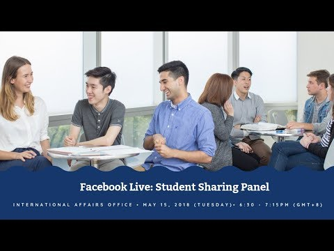Facebook Live Chat: Student Sharing Panel Session