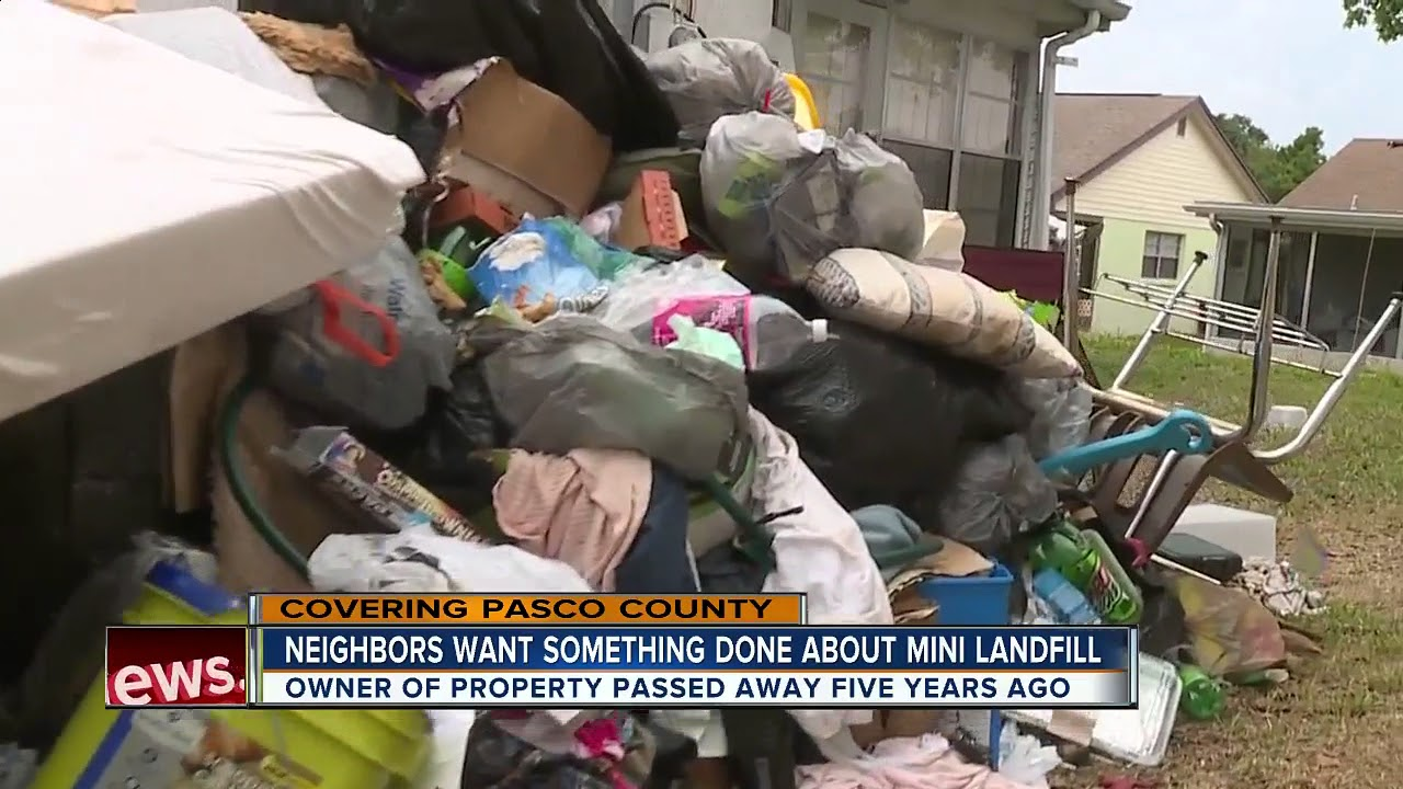 Neighbors say squatters are turning Pasco County home into a mini landfill