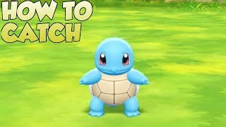 Pokemon Lets Go Pikachu and Eevee - How To Catch Squirtle