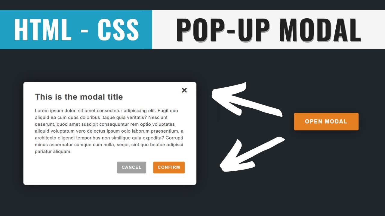 MODAL using HTML and CSS