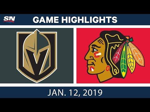 NHL Highlights | Golden Knights vs. Blackhawks - Jan. 12, 2019