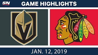 NHL Highlights | Golden Knights vs. Blackhawks - Jan. 12, 2019