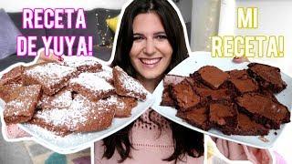 CARO VS YUYA: LA RECETA SECRETA DE BROWNIES! (su receta vs mi receta)