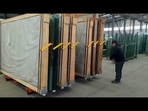Manual glass storage racks