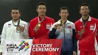 Badminton Finals Men's Singles Victory Ceremony | 29th SEA Games 2017