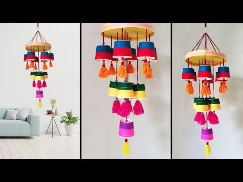 DIY Wind Chime Wall Hanging Craft Ideas // Home Decoration crafts idea // Best Out Of Waste #DotsDIY