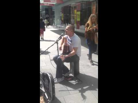 Dublin Busker Singing Go On Home British Soldiers In Dublin
