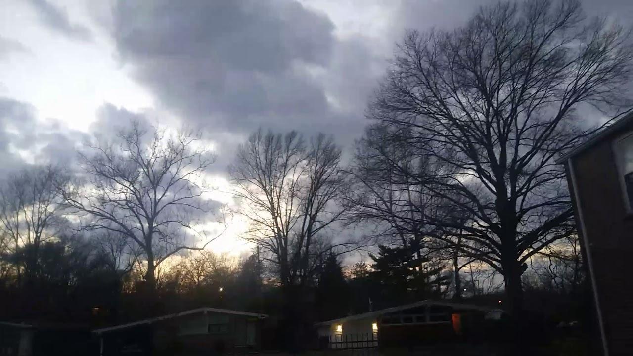 A look a dark clouds in St. Louis