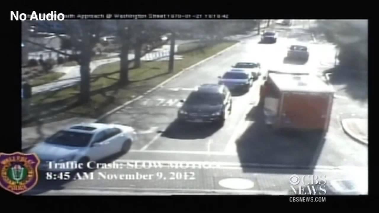 Wild car crash caught on tape - YouTube