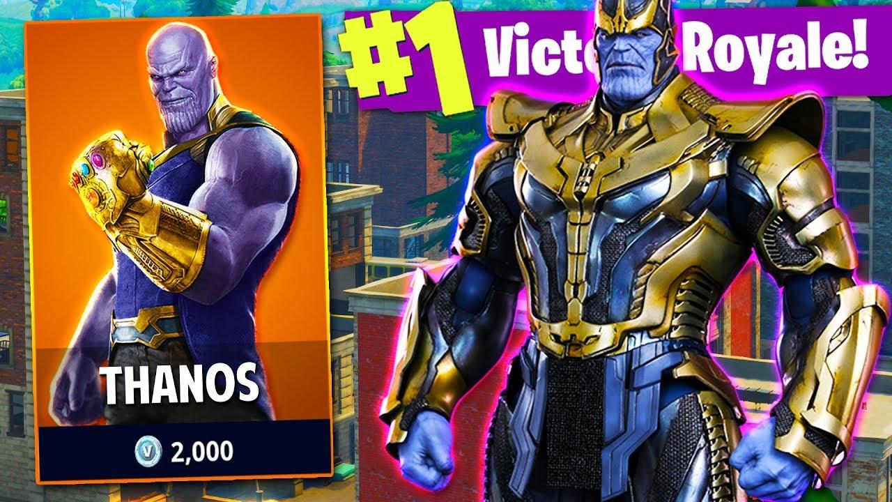 Season 4 Fornite Skins Wallpaper Thanos Challenge In Fortnite Battle Royale Avengers