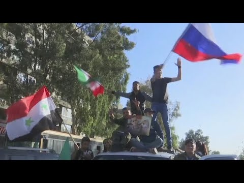 Syrians take to the streets of Damascus to protest airstrikes