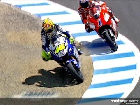 Rossi vs Stoner Guido Meda MotoGP16 laguna seca cavatappi ...