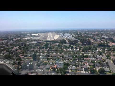 Cessna Citation Excel landing at Santa Monica Airport (KSMO)