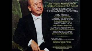 Eugene Ormandy, 1969 Interview: Reflections on Fritz Kreisler, Kirsten Flagsted, Marian Anderson