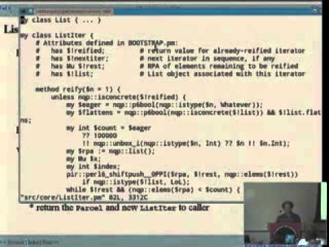 Patrick Michaud   More laziness and lists: LoLs, Hashes, Captures, and more