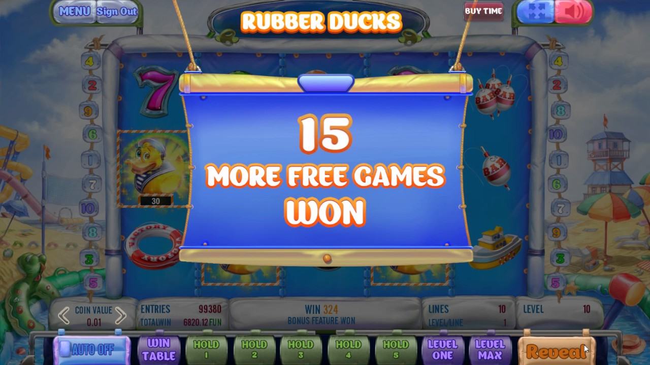 New game! Rubber Ducks (RiverSweeps Sweepstakes game)
