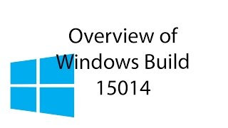 Overview of Windows 10 Insider Build 15014