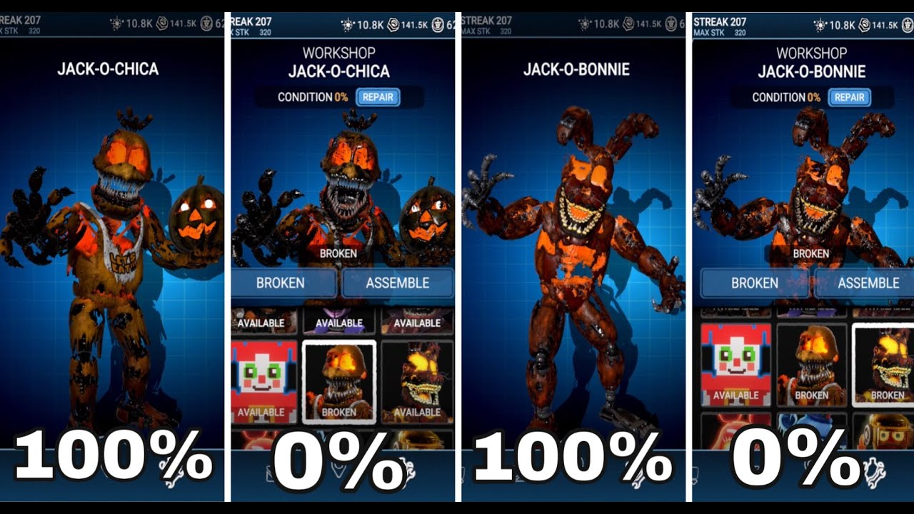 Download FNAF AR: JACK O CHICA & JACK O BONNIE FULL ANIMATIONS!!! (BROKEN VS FIXED!) - SPECIAL DELIVERY