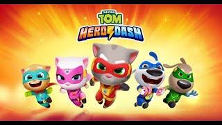 Chơi Talking Tom Hero Dash - culytv chơi game mèo tom chạy lụm vàng