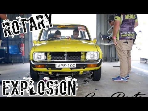 Mazda Rotary Explodes!!!!! GrassRoots Garage