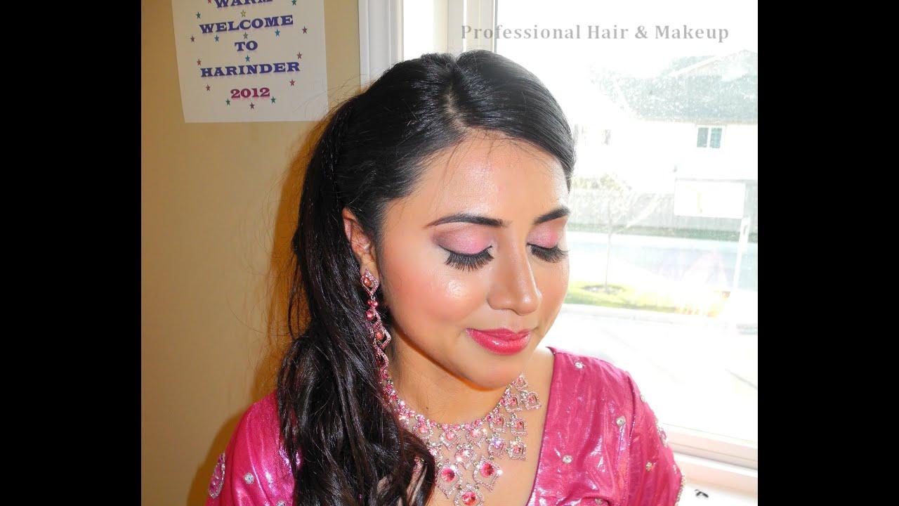 real punjabi / indian reception bridal makeup - youtube