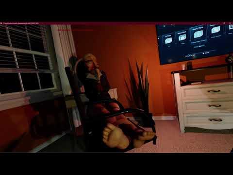 VR Chair Tickling a Girl  