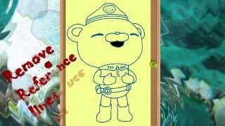 Octonauts - Captain Barnacles Bear - Easy - Step By Step - Drawing - How to Draw Octonauts