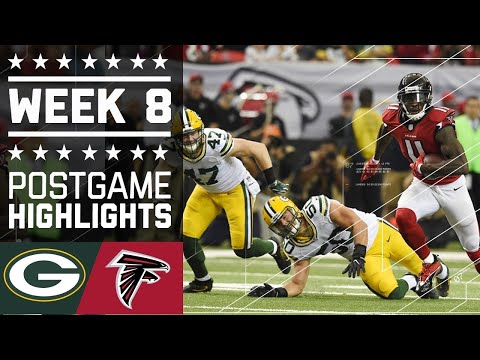 #10 Packers vs. Falcons | NFL Week 8 Game Highlights