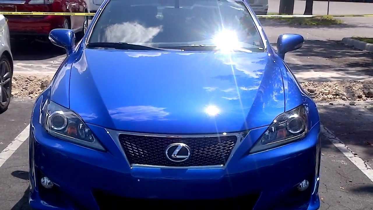 Lexus IS250 F SPORT Ultrasonic Blue Mica - YouTube