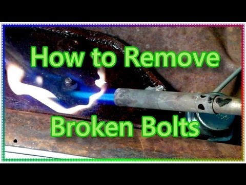 how to extract a broken screw or bolt funnycat tv. Black Bedroom Furniture Sets. Home Design Ideas