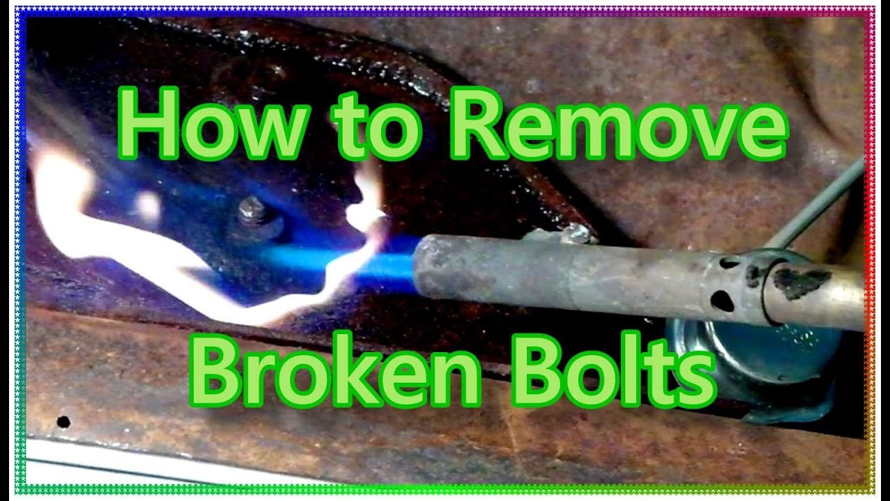 how to remove broken rusty bolts youtube. Black Bedroom Furniture Sets. Home Design Ideas