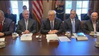 Trumps Body Language during cabinet Meeting