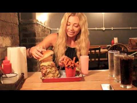 The Fat Hippo's 6 BURGER Tower Burger Food Challenge