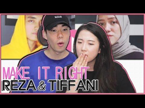 "[REAKSI] JEESUN ORANG KOREA ""Reza & Tiffani - Make It Right (BTS 방탄소년단)"" SUB : IDN, KOR]"