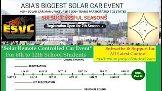 ESVC I Solar Car Event for School Students I Renewable energy Competition