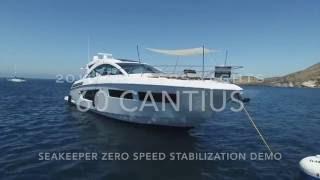 Seakeeper Zero Speed Gyro Demo 2016 Cruisers Yachts 60 Cantius