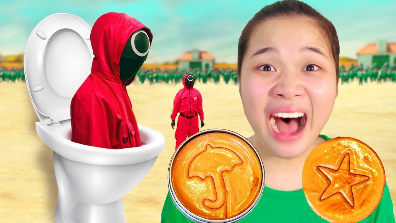Top 10 Video Squid Game Trò Chơi Con Mực Hay Nhất ❤ Thử Thách Tách Kẹo Kiểu Úc ❤ Trang Vlog