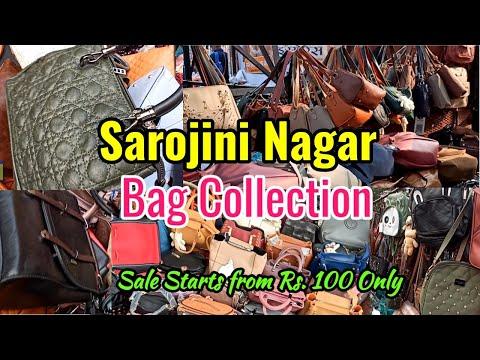 Sarojini Nagar Market Delhi    SarojiniNagar NEW December bags Collection   Hindi