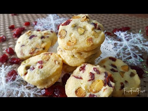 Pistachios and Cranberries Cookies