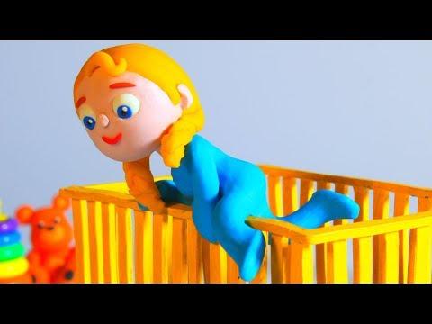 LITTLE PRINCESS CAN'T FALL ASLEEP ❤ SUPERHERO PLAY DOH CARTOONS FOR KIDS